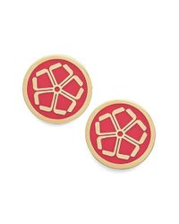 Trina Turk | 'floret' Button Stud Earrings - Dark Pink | Lyst