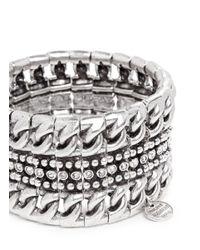 Philippe Audibert | Metallic Sasso' Chain Linear Pavé Bracelet | Lyst