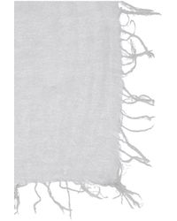 Chan Luu - Gray Cashmere And Silk-Blend Scarf - Lyst