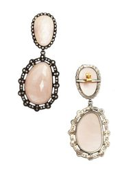 Amrapali - Pink Moonstone And Diamond 'Color Stone' Drop Earrings - Lyst