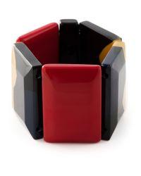 Marni | Black Faceted Stone Bracelet | Lyst