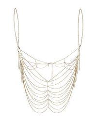 TOPSHOP | Metallic Chain Bralet | Lyst