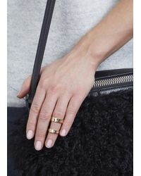 MFP MariaFrancescaPepe   Metallic 23Kt Gold Plated Rings - Set Of Two   Lyst