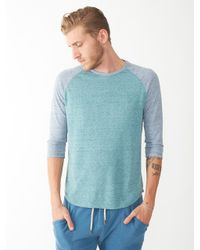 Alternative Apparel - Blue Willoughby Recycled Denim Baseball Tshirt - Lyst