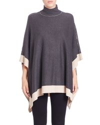 Splendid - Gray Saddle Turtleneck Sweater - Lyst