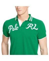 Polo Ralph Lauren | Green Custom-fit Mesh Polo Shirt for Men | Lyst