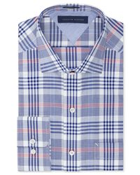 Tommy Hilfiger - Easy Care Blue Multi-check Dress Shirt for Men - Lyst