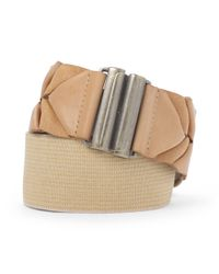 Club Monaco - Natural Callie Stretch Belt - Lyst