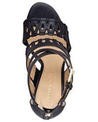 Ivanka Trump | Black Drita Leather Stiletto Sandals | Lyst