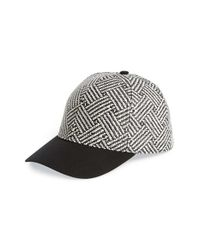 Lucky Brand - Black 'zig Zag' Straw Baseball Cap - Lyst