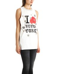 3.1 Phillip Lim - White I Heart Nueva York Muscle Tank - Lyst