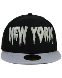 KTZ | Black New York Yankees Flag Stated 59fifty Cap for Men | Lyst