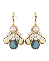 Lydell NYC - Multicolor Pearly-Bead & Crystal Anchor-Drop Earrings - Lyst