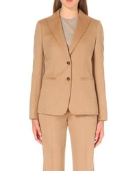 Max Mara | Natural Palude Camel Hair Jacket | Lyst