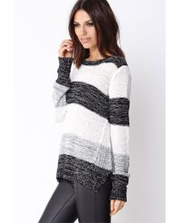 Forever 21 | Black Contemporary Gallery Girl Colorblocked Sweater | Lyst