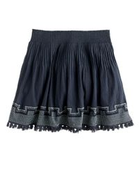 J.Crew | Gray Embroidered Tassel Gauze Skirt | Lyst
