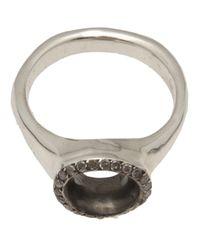 Rosa Maria - Metallic Thin Band Ring - Lyst