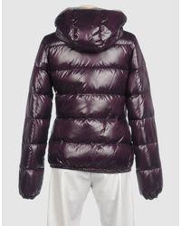 Duvetica | Purple Adhara Hooded Down Jacket | Lyst