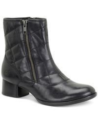 Born | Black Minna Quilted Booties | Lyst
