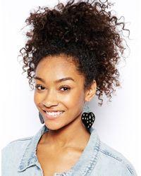 Monki - Black Dora Strawberry Earrings - Lyst