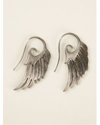 Noor Fares | Metallic Wing Earrings | Lyst
