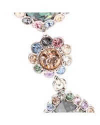 Miu Miu - Multicolor Clip-On Crystal Earrings - Lyst