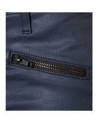 Current/Elliott - Blue The Soho Zip Stiletto Coated Skinny Jeans - Lyst