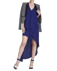 BCBGMAXAZRIA - Blue Tara Cascade-Ruffle Dress - Lyst