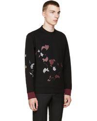 Lanvin - Black Leaf Print Neoprene Pullover for Men - Lyst