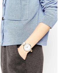 ASOS - Metallic Minimal Sleek Rose Gold Watch - Lyst