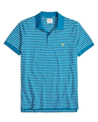 Brooks Brothers | Blue Stripe Polo Shirt for Men | Lyst