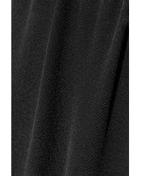 Alexander Wang - Black Hybrid Leather Track Pants - Lyst