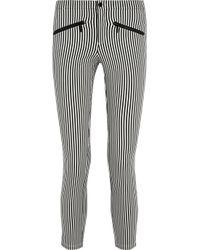 Theyskens' Theory | Gray Striped Stretch Cottonblend Skinny Pants | Lyst