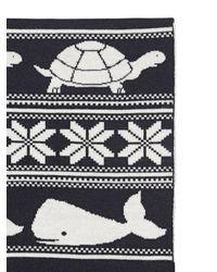 Thom Browne | Black Fine Merino Wool Knitted Scarf | Lyst