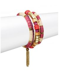 Catherine Stein | Pink Wooden Beaded Bracelet Set | Lyst