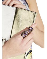 Bernard Delettrez | Purple Leaf Articulated Ring | Lyst