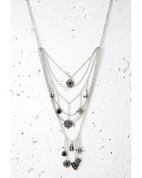 Forever 21 | Metallic Faux Stone Charm Necklace You've Been Added To The Waitlist | Lyst