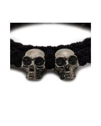 Alexander McQueen - Black Double Braid Bracelet for Men - Lyst
