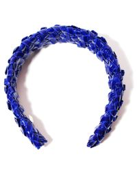 Gigi Burris Millinery - Patent Woven Blue Headband - Lyst