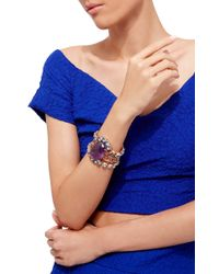 Bounkit | Purple Rose Gold Plated Blue Quartz And Amethyst Bracelet | Lyst