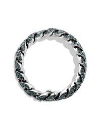 David Yurman - Metallic Curb Chain Bracelet with Color Change Garnet for Men - Lyst