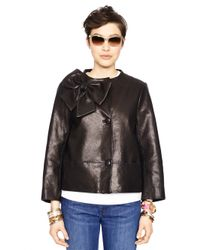kate spade new york - Black Leather Dorothy Jacket - Lyst