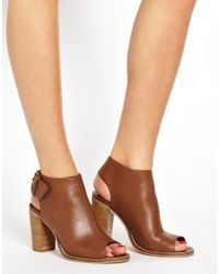 ASOS | Brown Total Leather Shoe Boots | Lyst