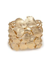 Aurelie Bidermann | Metallic Aurélie Bidermann Central Park Leaf Cuff - Gold | Lyst