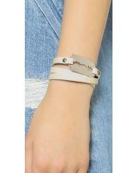 McQ - White Razor Triple Wrap Bracelet - Ivory - Lyst