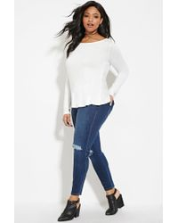 Forever 21 - White Plus Size Twist-back Cutout Top - Lyst
