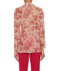 Gucci | Natural Herbarium-print Long-sleeved Silk Shirt | Lyst