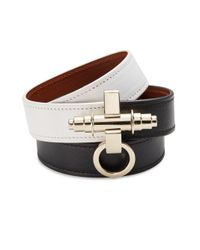 Givenchy - Black Obsedia Three-Row Two-Tone Leather Wrap Bracelet - Lyst