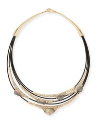 Alexis Bittar - Metallic Miss Havisham Mother-of-pearl & Crystal Layered Cable Necklace - Lyst