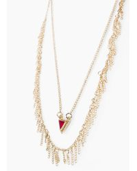 Mango | Metallic Chain Necklace | Lyst